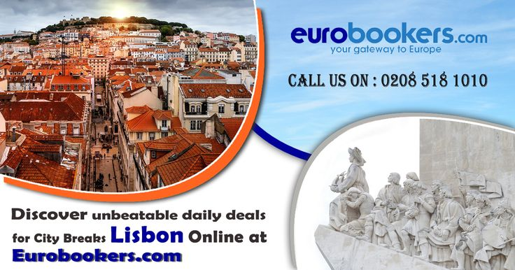 Discover unbeatable daily deals for City Breaks Lisbon Online at Eurobookers.com with cheap flights.  Eurobookers.com comes to new and exciting offer from a city break in Lisbon. Book affordable luxury hotels in Lisbon and get an attractive offer during your short city breaks in the city. Come and avail this memorable stay in Lisbon. Just Visit our website https://www.eurobookers.com or CALL US at 0208 518 1010 and Cheap Lisbon Holiday Packages 2017