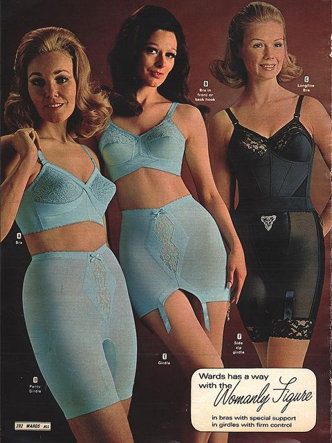 Girdles - Wards, 1970 Fall | Flickr - Photo Sharing!********* The forms and the formers.  And of course I love blue.  Imagine curves like these today !  For me, bumps of goose.