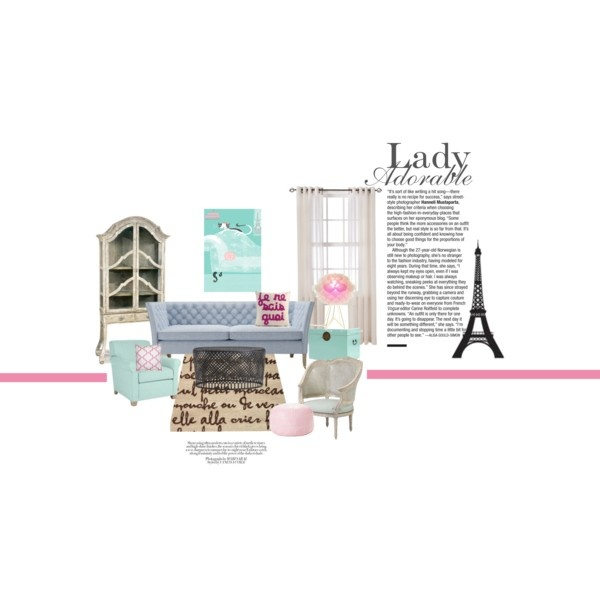 adorable lady, created by misiki on Polyvore: Interiors Sets, Tops Interiors, Interiors Design