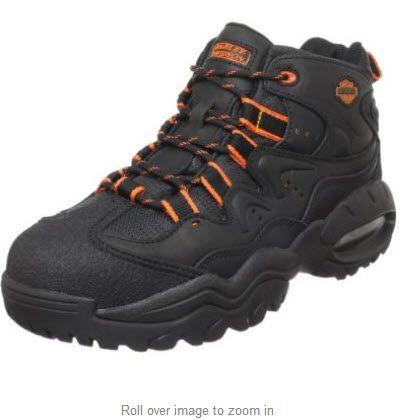 Harley-Davidson Men's Crossroads II Steel Toe Hiking Boot Leather and fabric Rubber sole TechTuff leather toe resists wear Full length cushioned sock lining for all day comfort ASTM F2413-05 I/75 C/75 rated steel toe Sturdy cement construction http://www.wearharleydavidson.com/Sports.html #harleydavidsonhikingboot #steeltoeharleyboot #crossfitharleydavidsonboot #bestharleydavidsonbootsshoes