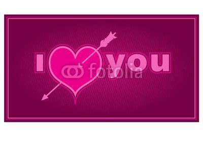 Vektor: i love you card