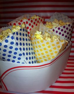 paper cones,popcorn cone,treat containers,movie party supply,carnival treats,fun food - Jilly Bean Kids www.jillybeankids.com