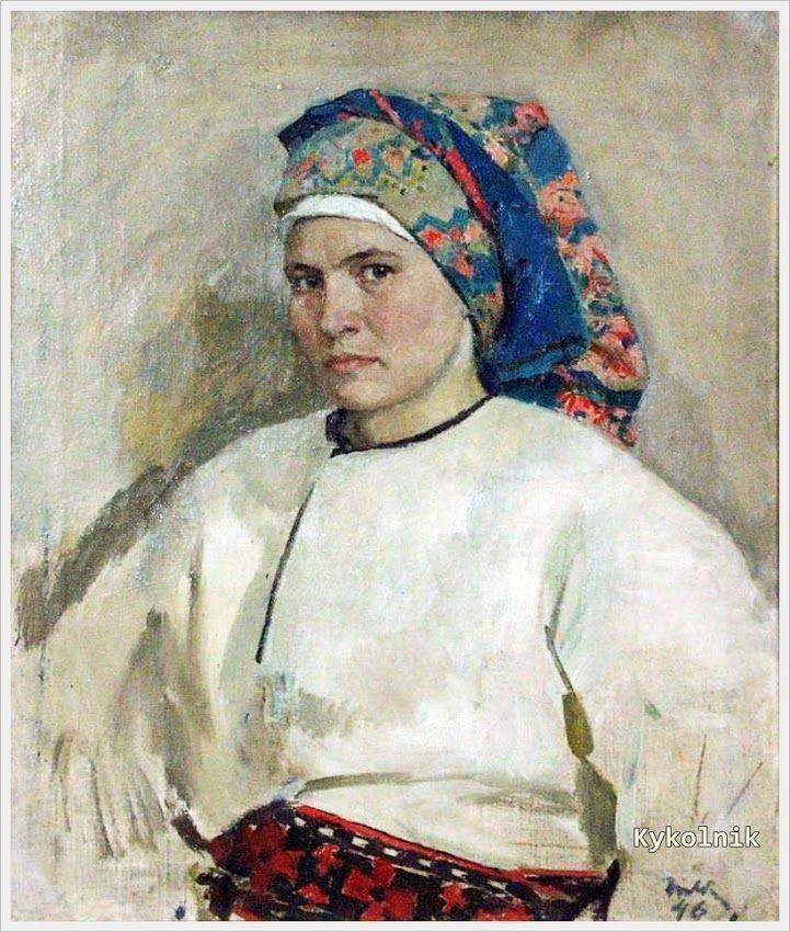 1946 год. Яблонская Татьяна Ниловна (Россия-Украина, 1917-2005) «Автопортрет»