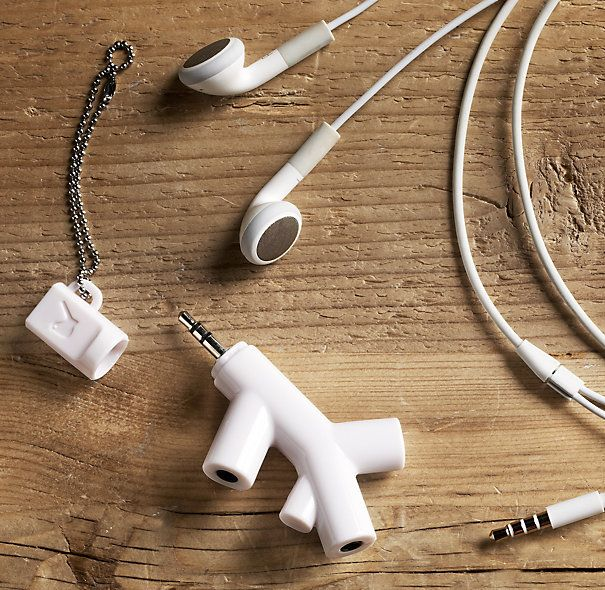 Music Branches Help someone share the gift of music while in public without being that annoying person who subjects everyone to blaring music. Also helps preserve those precious phone/iPod batteries by listening to the same device instead of killing 2-3 of these simultaneously.