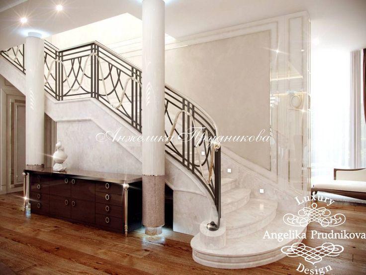 Дизайн интерьера загородного дома в стиле арт-деко в Барвихе - фото