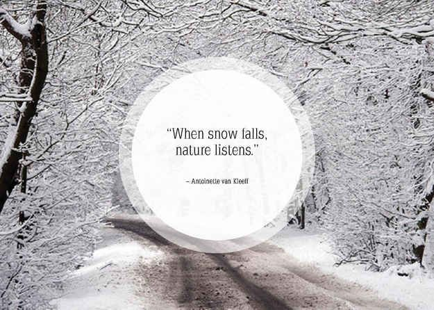 Community: 25 Beautiful Quotes About Snow