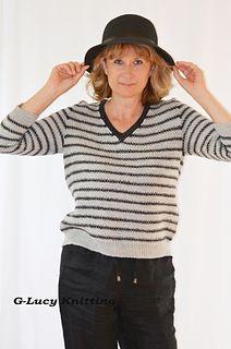 Linen St Stripe Pullover  from Vogue Knitting, Spring/Summer 2017