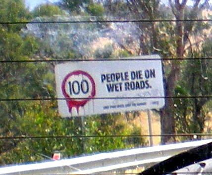 a funny aussie road sign...its just so intense...the bloody look they do on purpose ;)