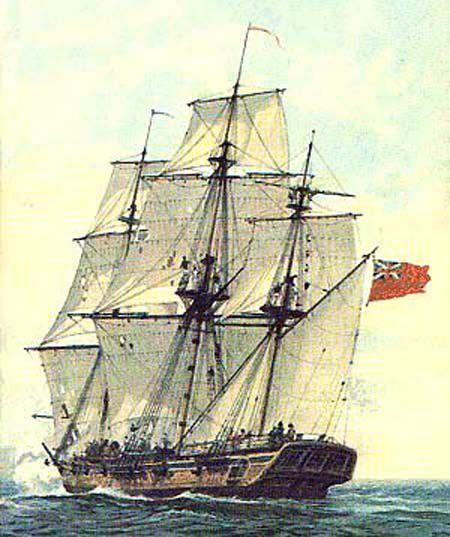 Example British sloop-of-war