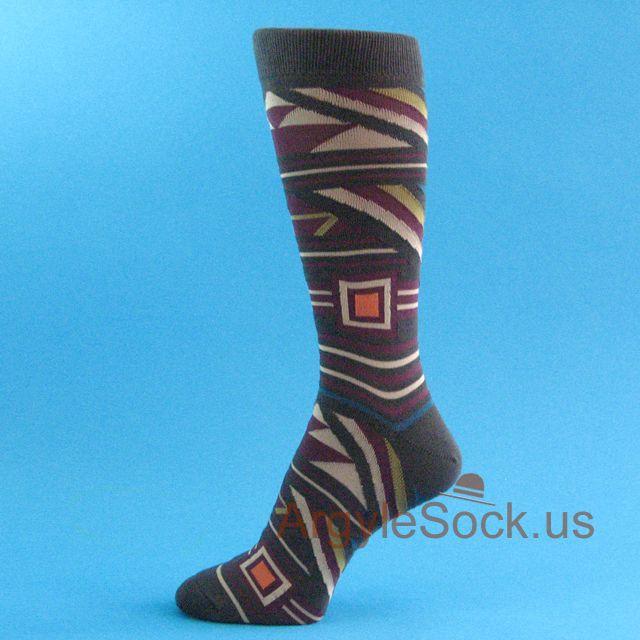 Love these socks! Charcoal Gray Men's Patterned Socks!