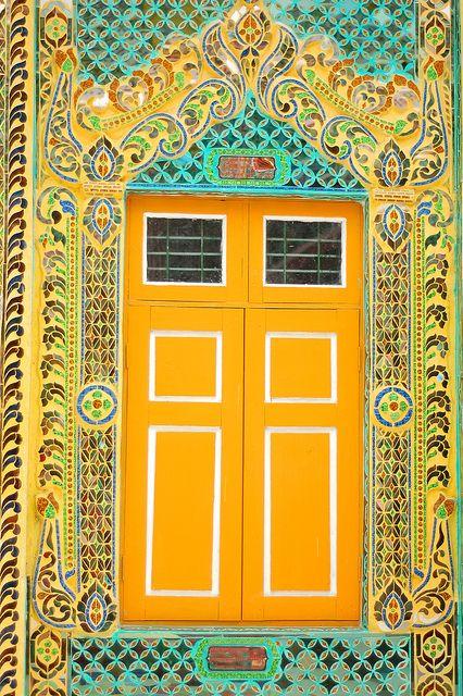 Yellow Door in Mt. Poppa Myanmar