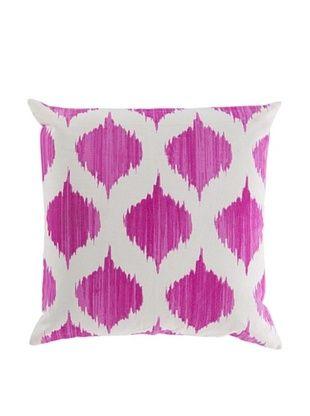 50% OFF Surya Ikat Throw Pillow (Ivory/Magenta)