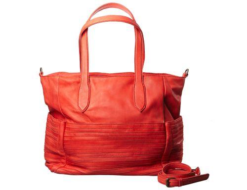 Borsa da giorno in pelle di vitello con fasce di pelle applicate e tache laterali. Indossabile a spalla o a tracolla. #resinastyle #bag #bags #daybag #fashion #borse #model #luxurybag #fashionable #handbag #fashionaddict #leather #handmade #fairtrade http://www.resinastyle.com/ready-made/