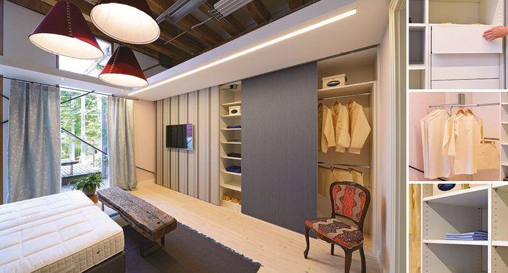 Perfect Kleiderschrank mit Schiebet ren Alu und Stoff Textil Einbauschrank Eichenhaus Kleiderschrank Pinterest Kleiderschrank mit schiebet ren