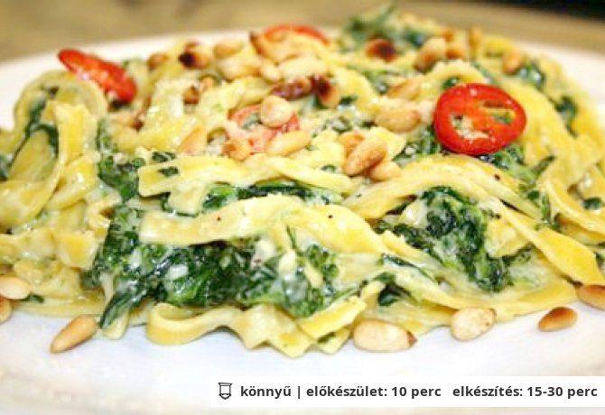 Spenótos-mascarponés tészta | NOSALTY – receptek képekkel