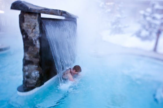 Scandinave Spa in Whistler. The ultimate place for a date night.