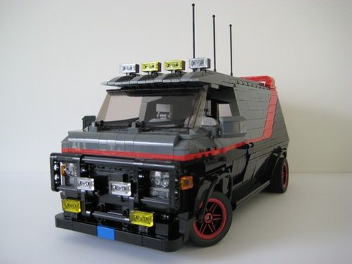 The A-Team Van: A LEGO® creation by Willem G : MOCpages.com