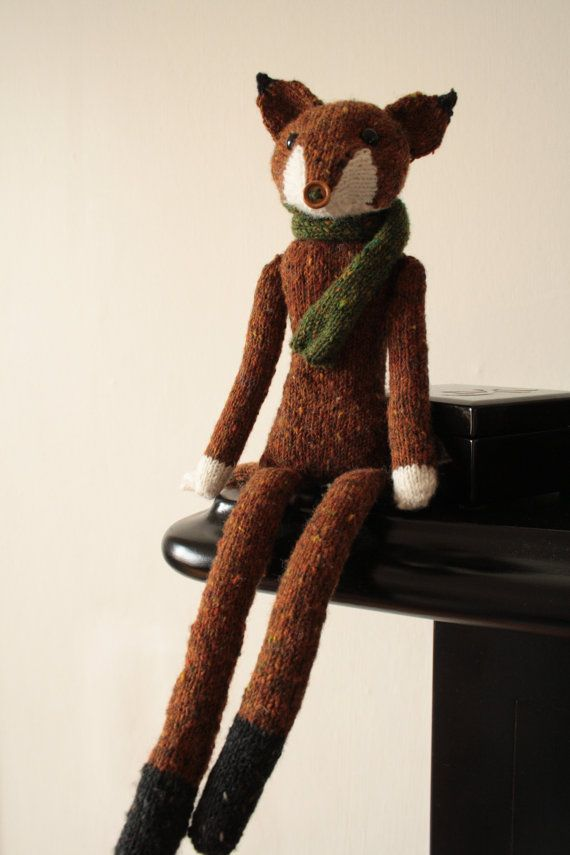 DIY:  Sophisticated Mr. Fox Knitting Pattern PDF by OwlPrintPanda