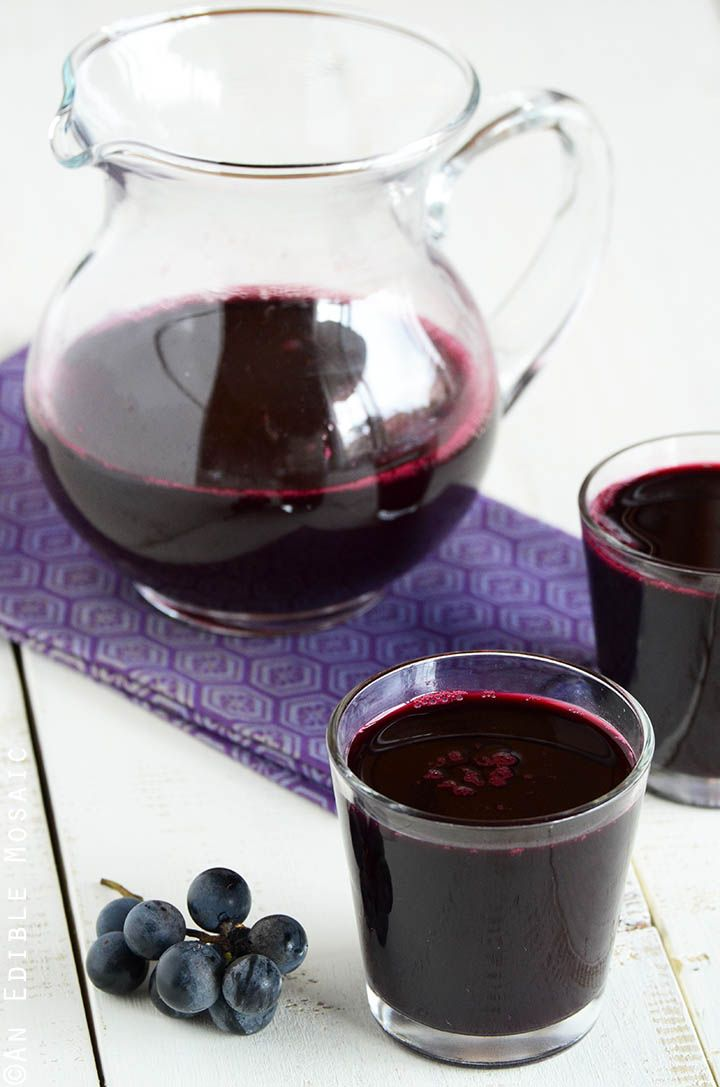 Homemade Concord Grape Juice is a delicious, antioxidant-rich beverage. I feel like a mom. At least in the sense that I haven't had a hot meal (since I'm too busy photographing them) in about two a...