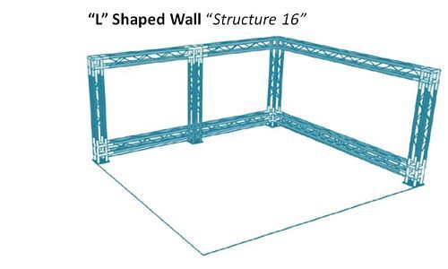 L shaped modular truss wall structure. #versatrussplus #wallstructure #tradeshow