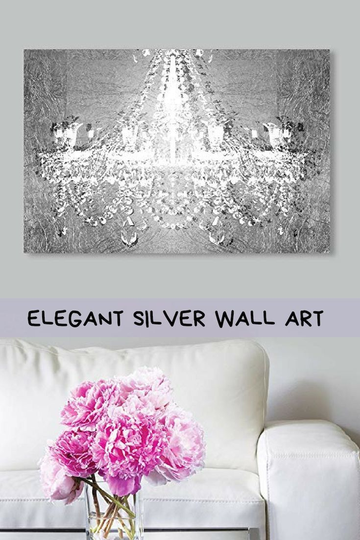 Contemporary Chic And Exquisite Silver Wall Art Home Wall Art Decor Silver Wall Art Silver Walls Handcrafted Wall Art
