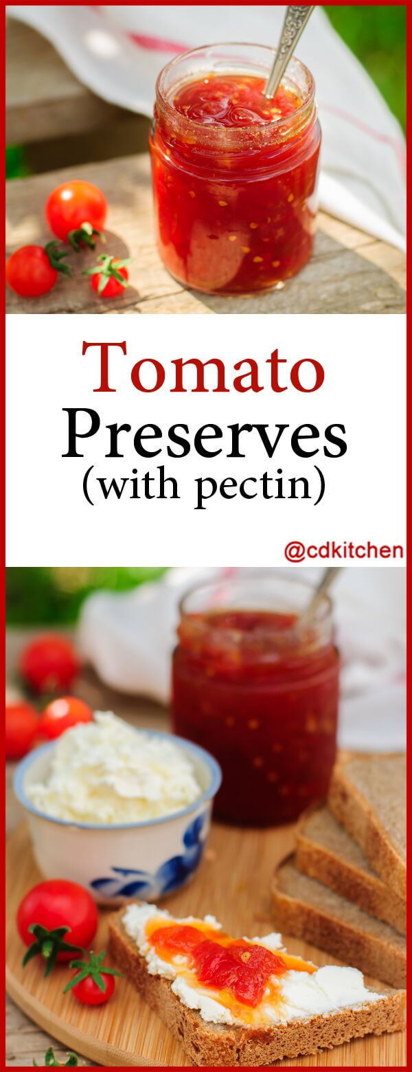 Tomato Preserves With Pectin – Made with tomatoes, lemon juice, sugar, Sure Jell…