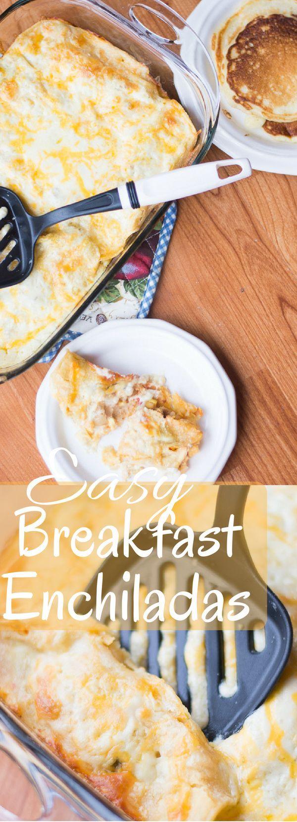 Breakfast Enchiladas / Make Ahead Breakfast Casserole / Breakfast Casserole / Enchiladas / Easy Breakfast