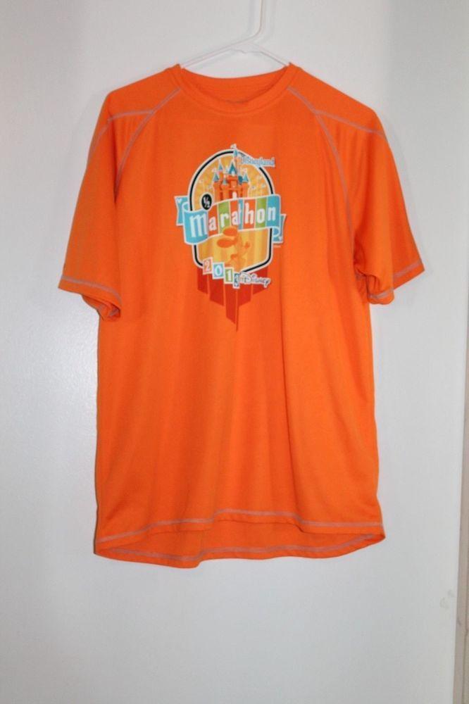 Mens RunDisney Champion Double Dry Disneyland Marathon 2013 Medium Shirt #Champion #ShirtsTops