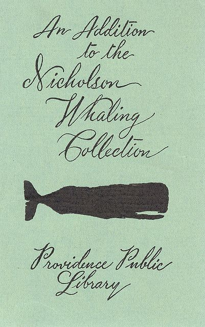 "theshipthatflew: "" Providence Public Library Nicholson Whaling Collection Bookplate, from raising-romulus """
