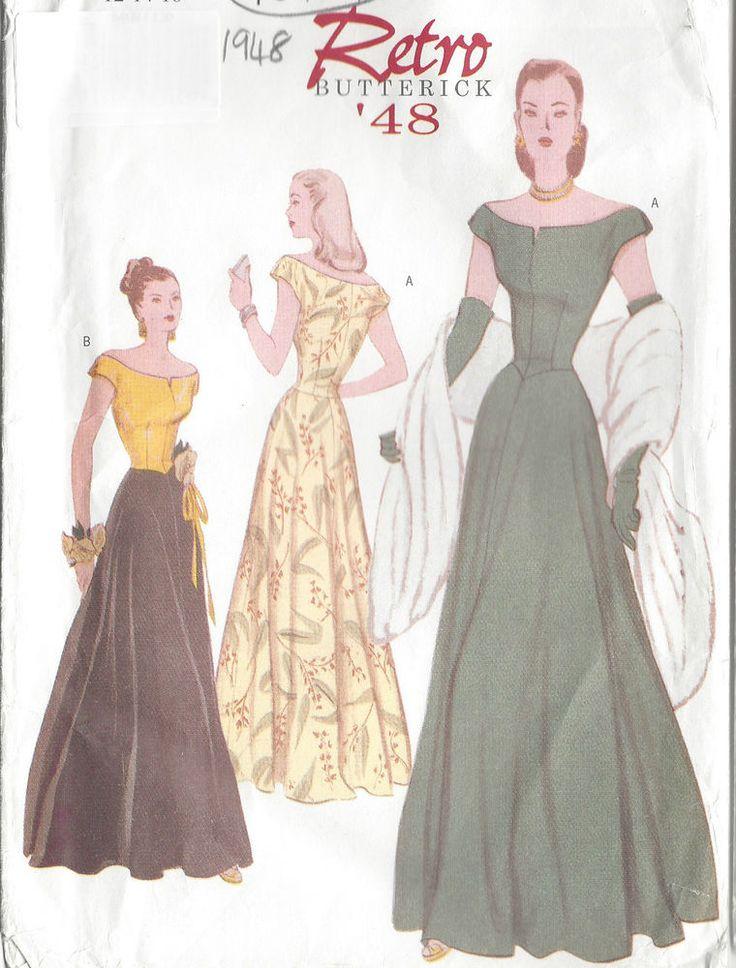 1948 Vintage Sewing Pattern DRESS B34 -36 -38  (R414)