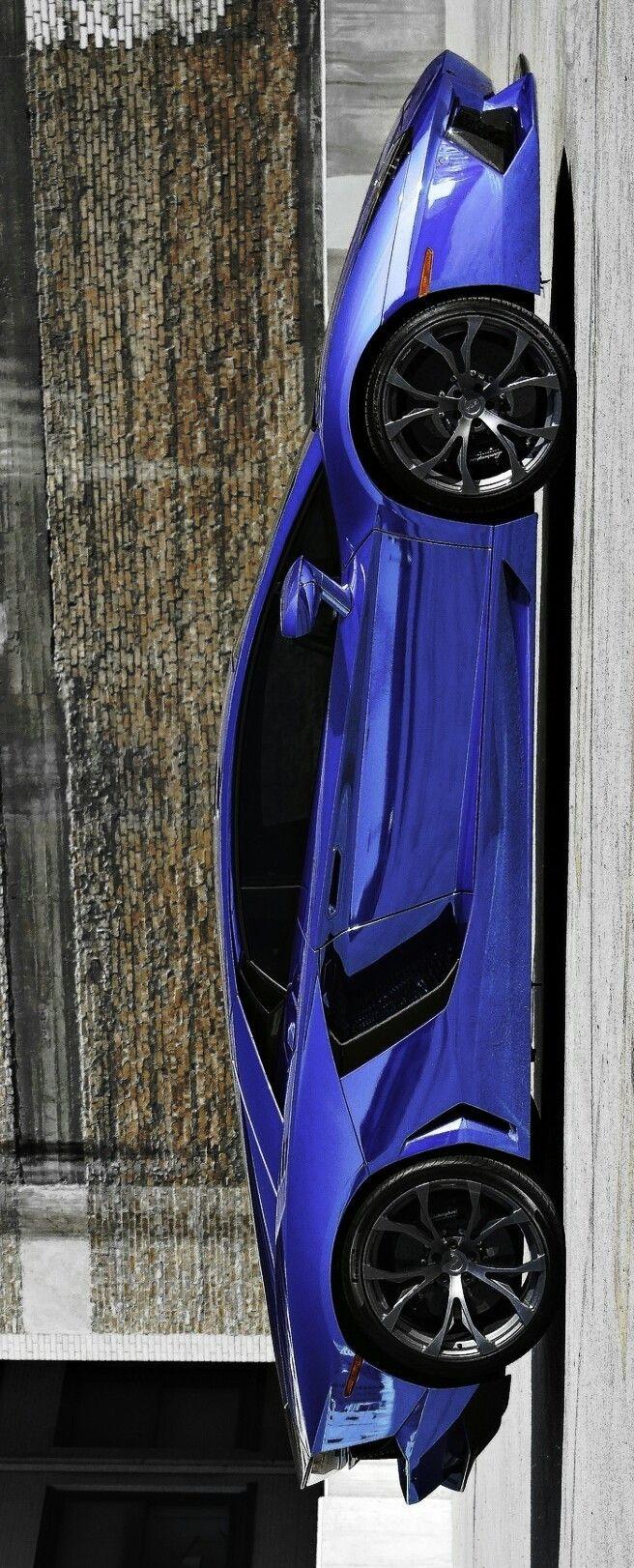 (°!°) Lamborghini Aventador dressed in this Bitch'n Blue...