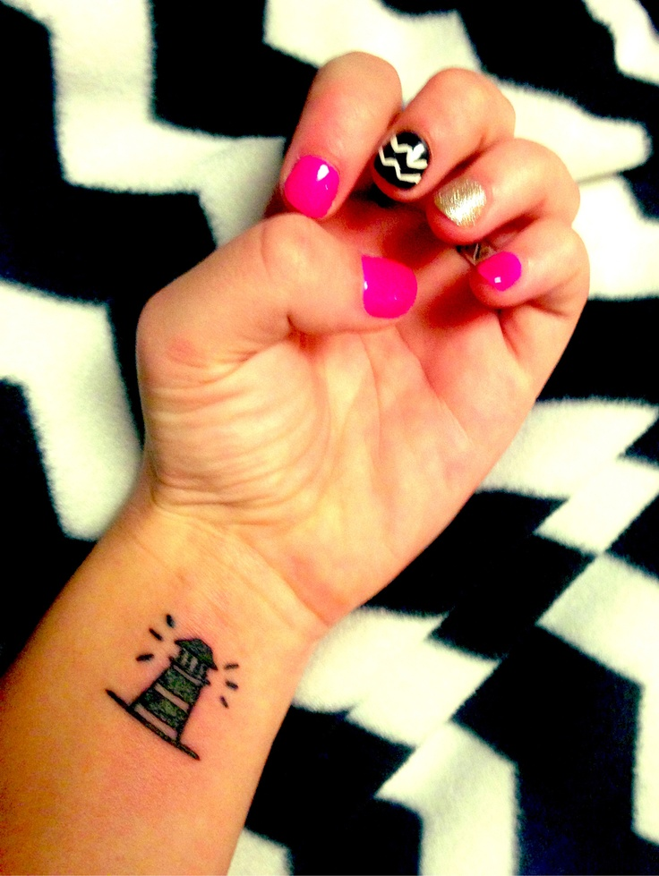 Pink Gold Black And White Chevron Nails Lighthouse