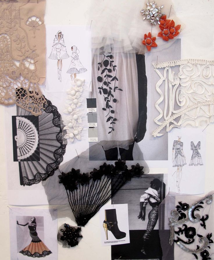 Fashion Moodboard elegant lace & trim