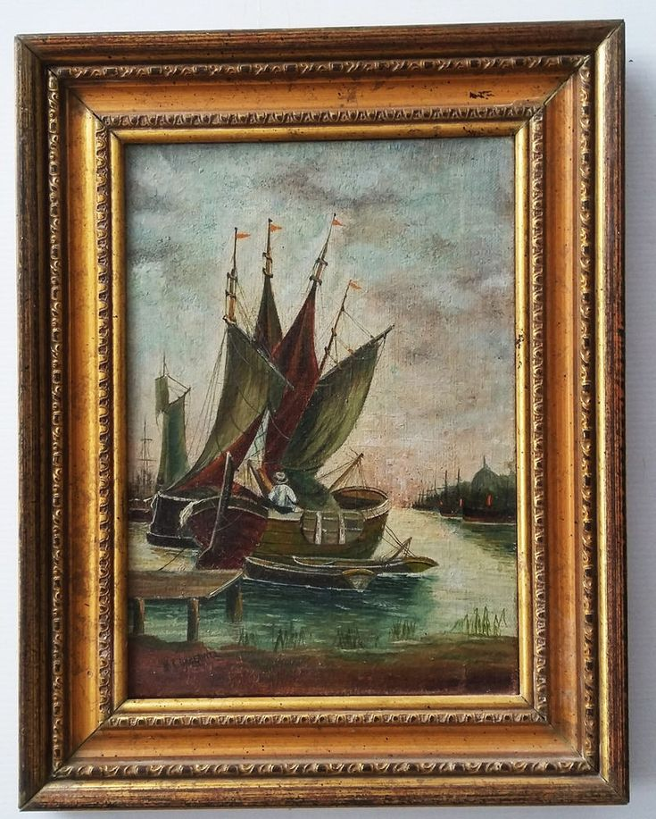 "LISTED ENGLISH ARTIST- W. A. Underhill -19th C - OIL / CANVAS - -8""x11.5"" #Realism"