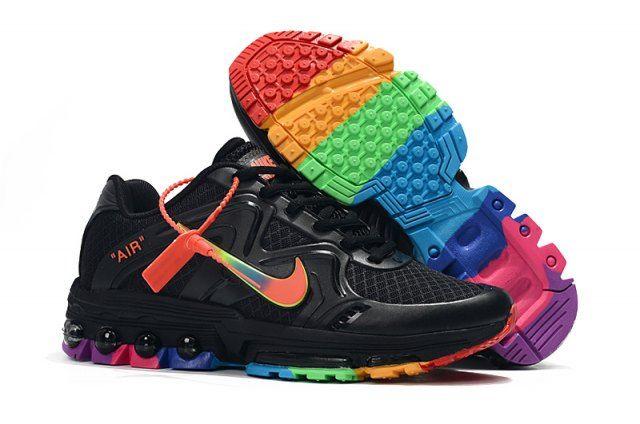 Mens Womens Winter Nike Air Max 2019 Sneakers Black rainbow ...