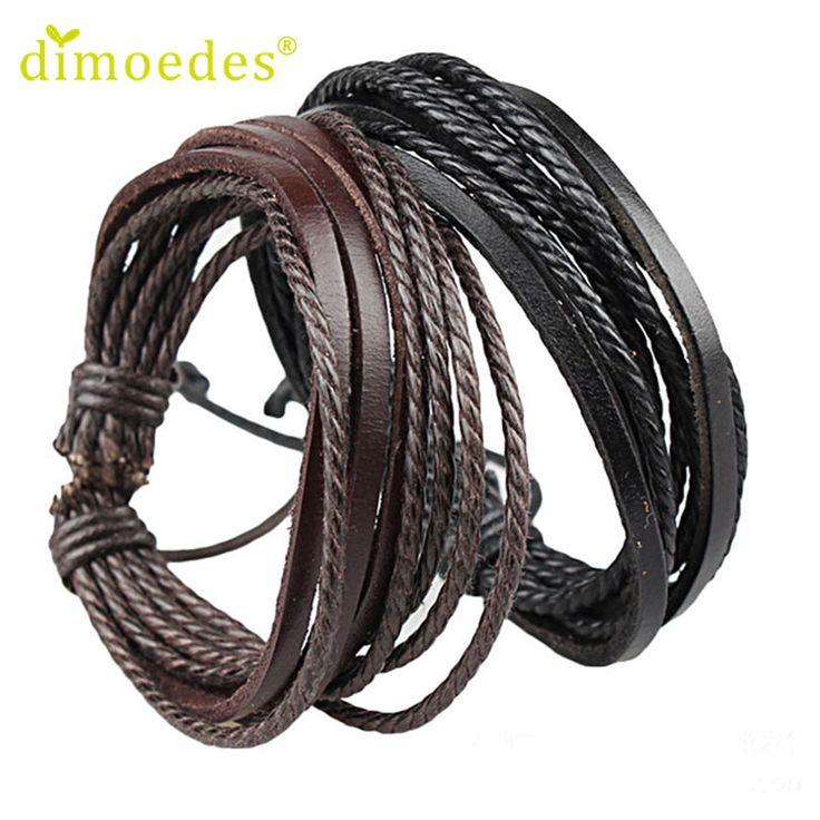 Best seller High Quality Diomedes Fashion Men Women Wrap Leather Bracelets bangles Braided Rope Enrole pulseiras de couro Apr18