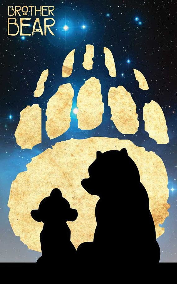 Kenai & Koda - Brother Bear / Disney Inspired - Movie Art Poster  My favourite movie