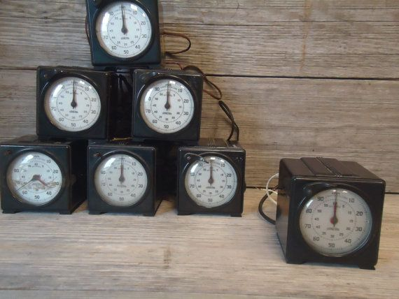 Vintage Industrial Lab Precision Timer Stopwatch Clock by meile666
