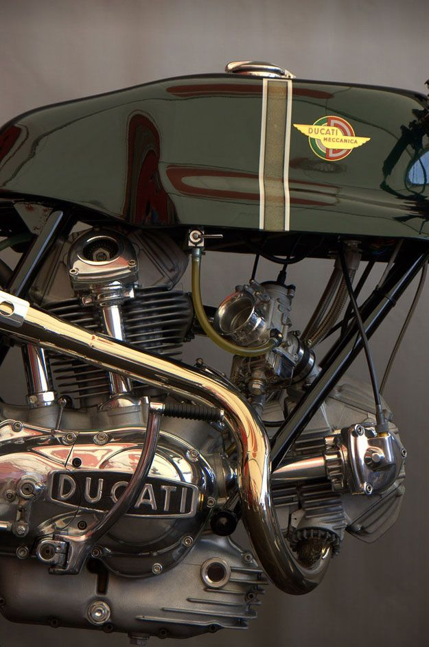 Bevel Ducati engine close up almost a work of art.