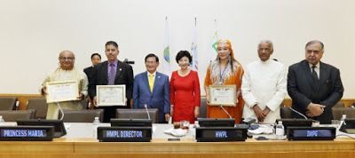 THE PEACE LINE: HWPL ManHee Lee chairman, at the Global Peace Lead...