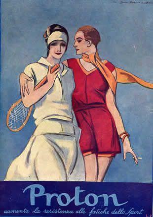 """✔️ Proton aumenta le resistenze alle fatiche dello sport 1928 - Proton era un """"ricostituente"""" prodotto dal dottor Camillo Rocchietta di Pinerolo. (medicinal tonic) / Old Italian Avertising"""