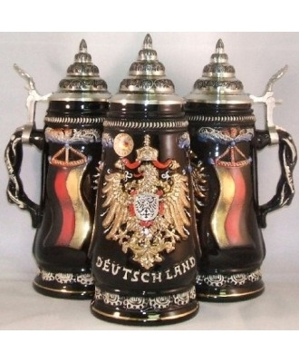 Deutschland beer stein. which I have plenty of. try drinking out of a boot glass  or one of the Oktoberfest mugs.
