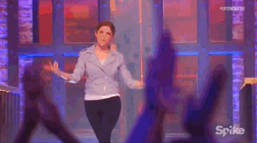 """And this week, it was Blunt's husband (and the show's executive producer) John Krasinski's turn to fight for the belt…against Anna Kendrick, Blunt's Into the Woods co-star. 