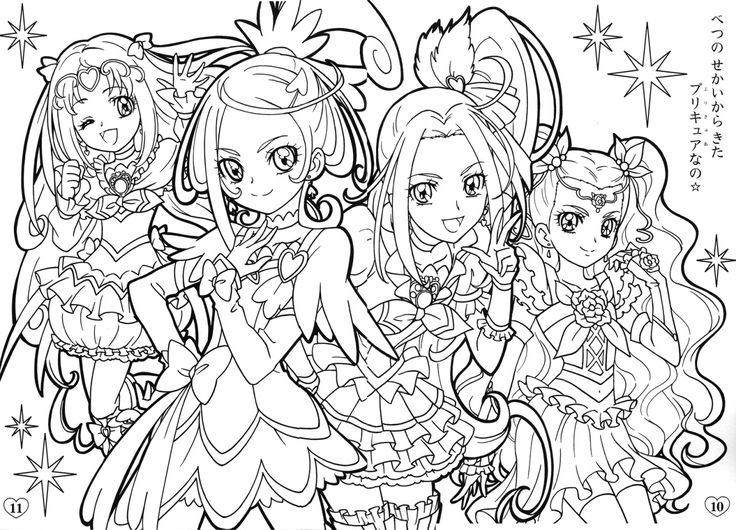 27+ Pretty Image of Glitter Force Coloring Pages in 2020