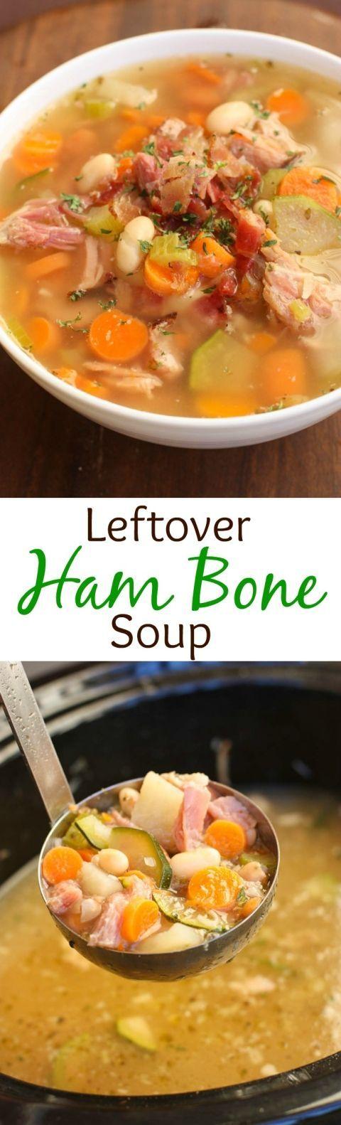 Slow Cooker Leftover Ham Bone Soup| Tastes Better From Scratch