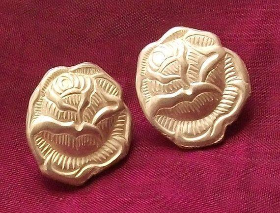 Besteckschmuck Rose Ohrstecker Ohrringe Besteck von Schmuckbaron