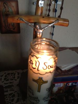 Family At The Foot Of The Cross: All Souls Family Prayer Candle