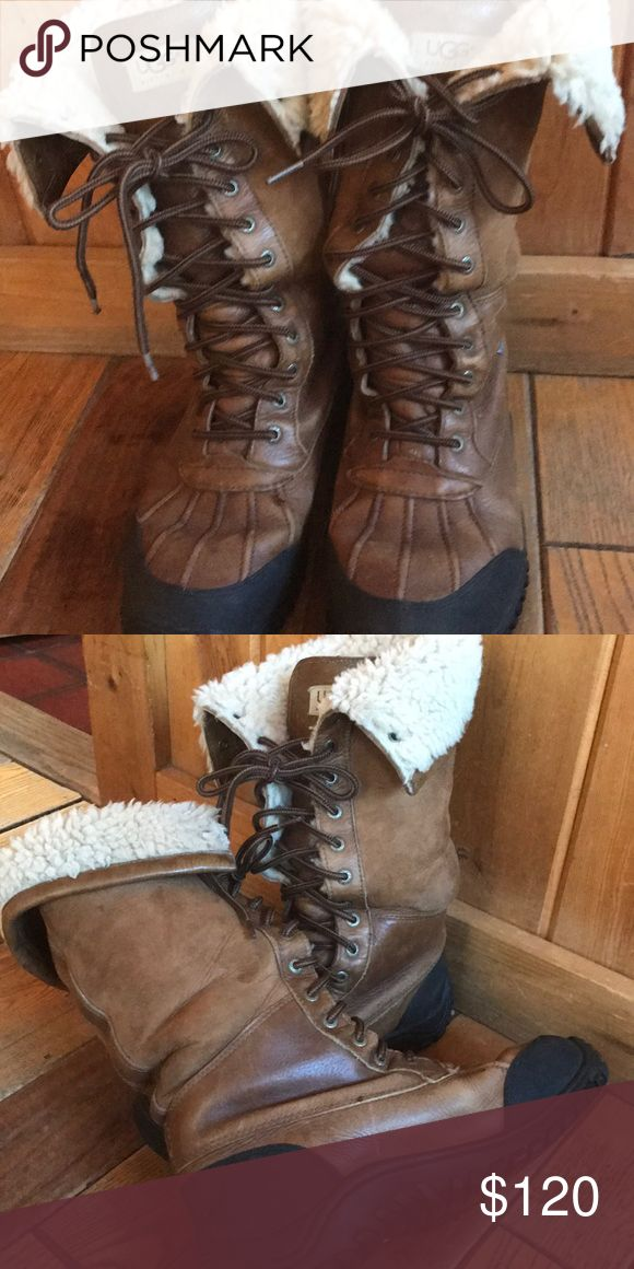 Ugg adirondack tall boots Ugg adirondack shearling and leather waterproof boots . Can go in -20 temps! Ugg Shoes Winter & Rain Boots