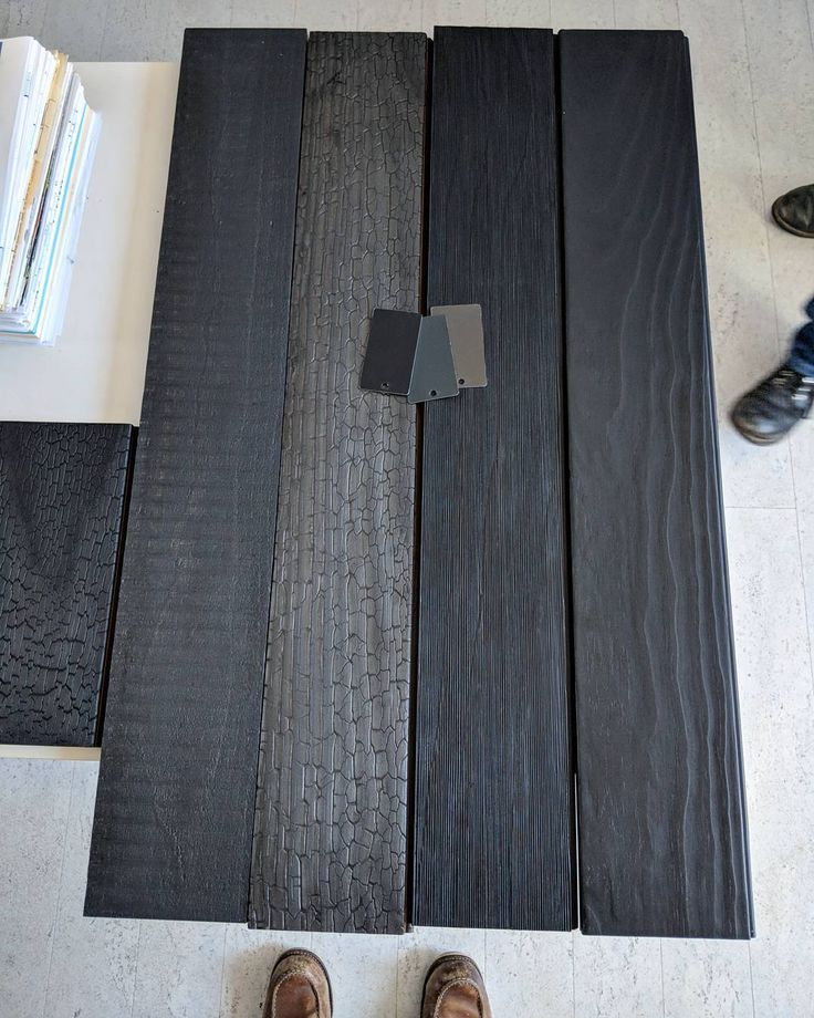 Just some samples for a project... Mmm love some shou sugi ban. . . #hausmode #werkmode