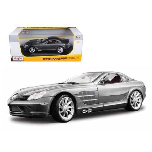 Mercedes Mclaren SLR Grey 1/18 Diecast Model Car by Maisto